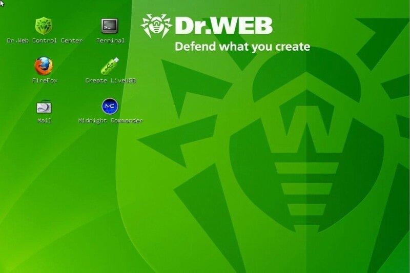 Бесплатный загрузочный диск Dr.Web LiveCD