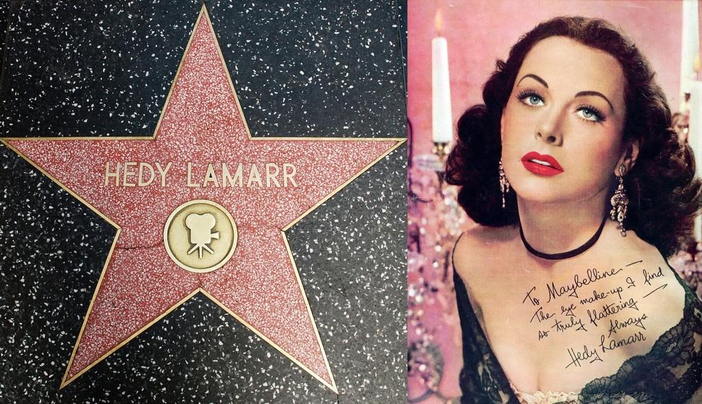 14. За свой вклад в достижения кинематографа Хеди Ламарр была удостоена звезды на голливудской «Алле