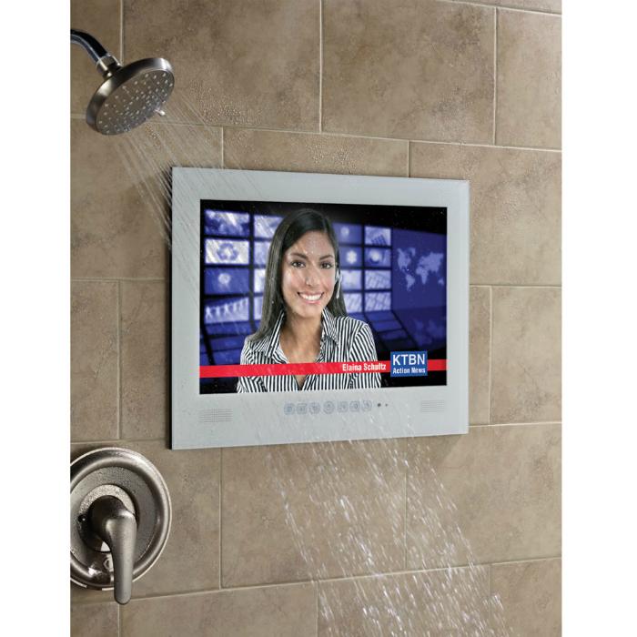 Телевизор для ванны. Водонепроницаемый телевизор – настоящая находка для людей, которые провод