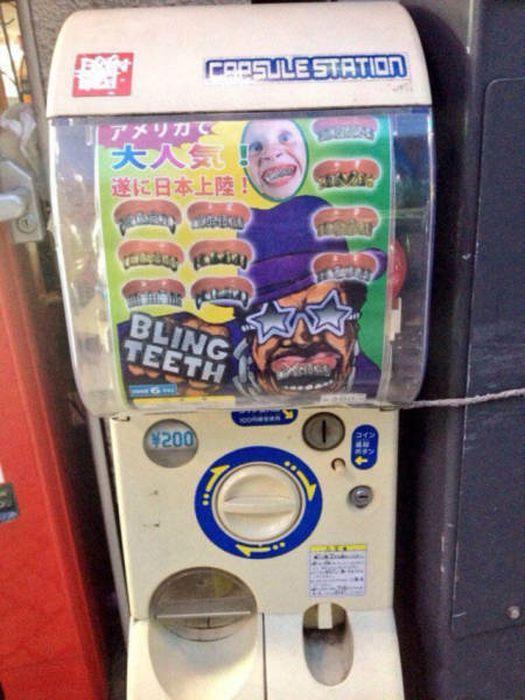 Автомат, продающий золотые зубы. В Средней Азии бы тоже оценили.