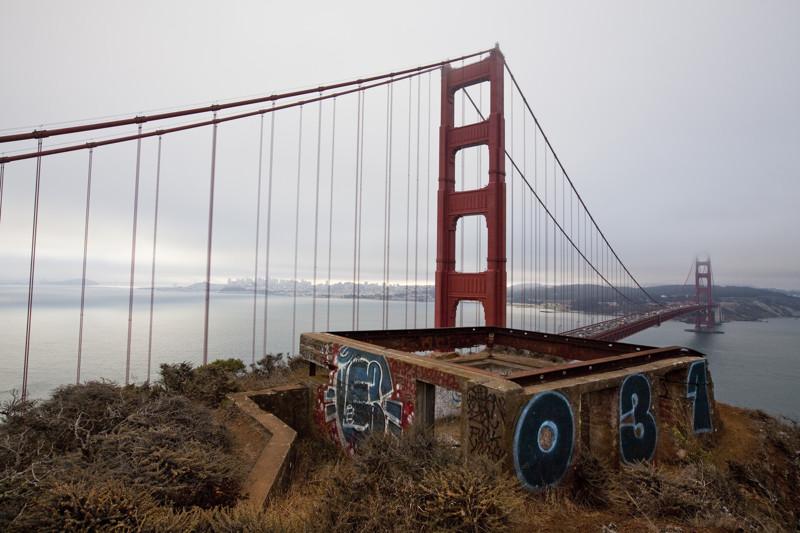 Мост Золотые Ворота лучше фотографировать издалека.
