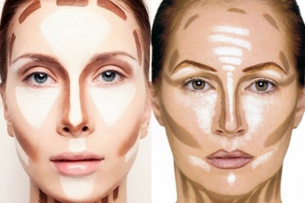 Как зрительно уменьшить нос, нанося тональные средства?