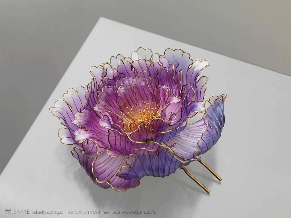 Exquisite Japanese Floral Hair Ornaments Handcrafted from Resin by Sakae