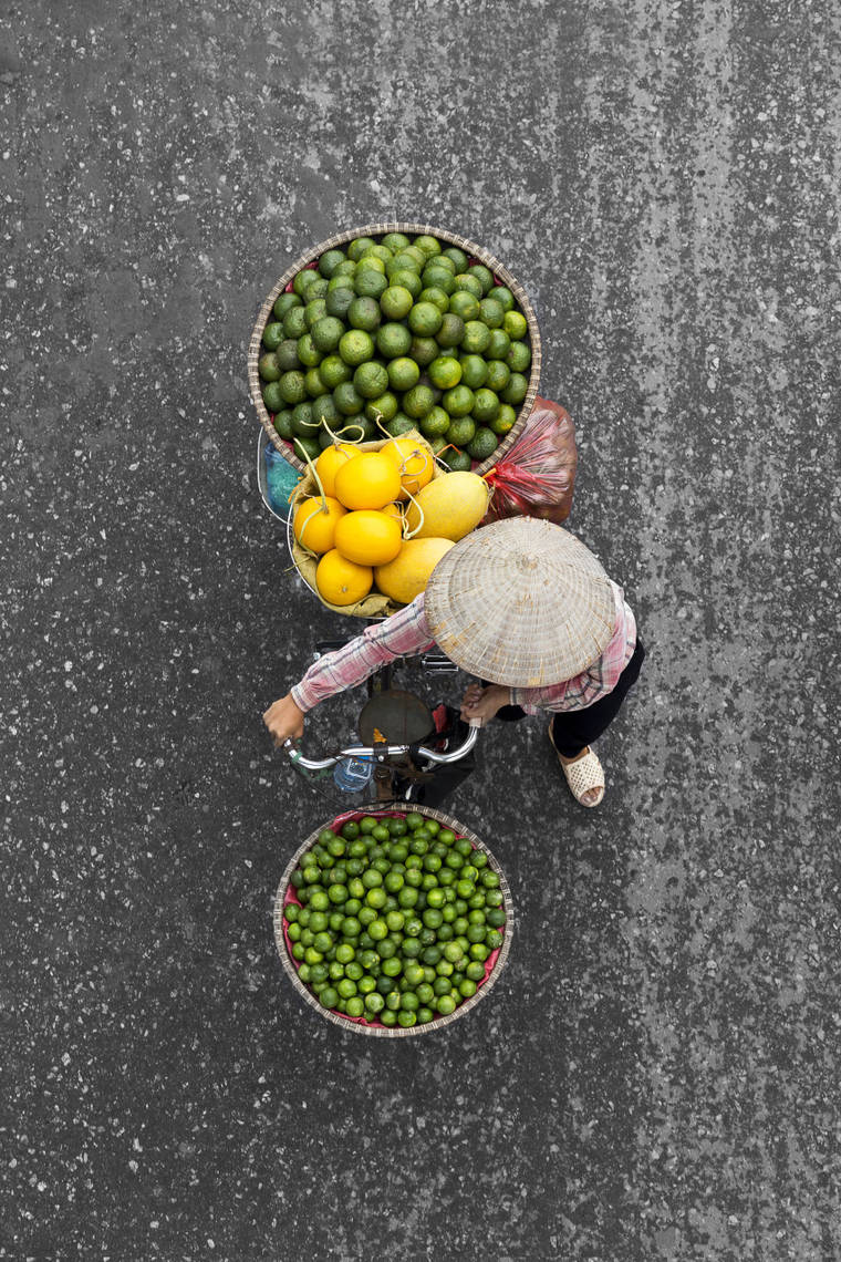 Street Vendors - Documenting the vendors in Vietnam from a bridge