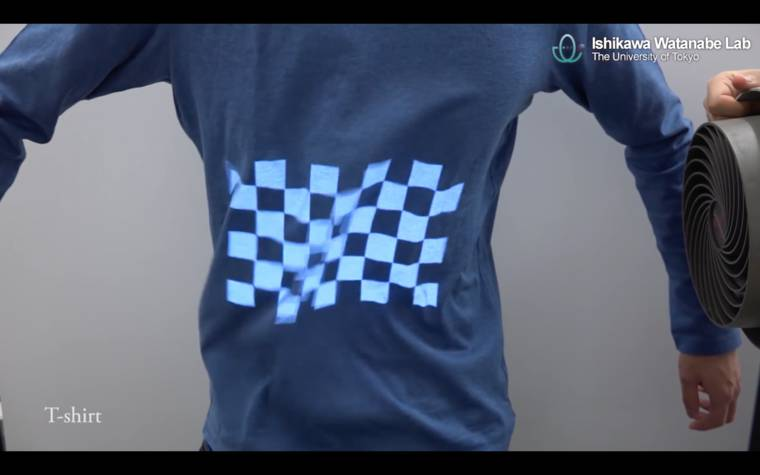 Dynamic Projection Mapping - Mapping in real time on soft surfaces