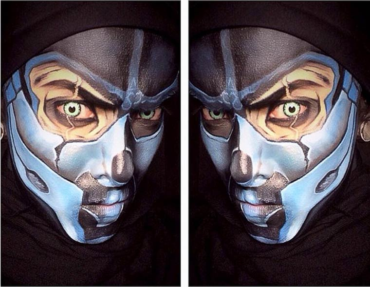 When an artist turns himself into superheroes thanks to body painting