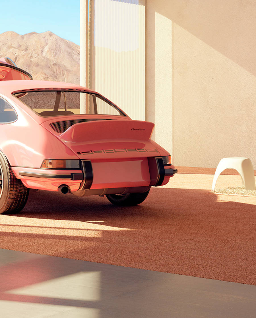 Surreal Compositions with Porsches by Chris Labrooy