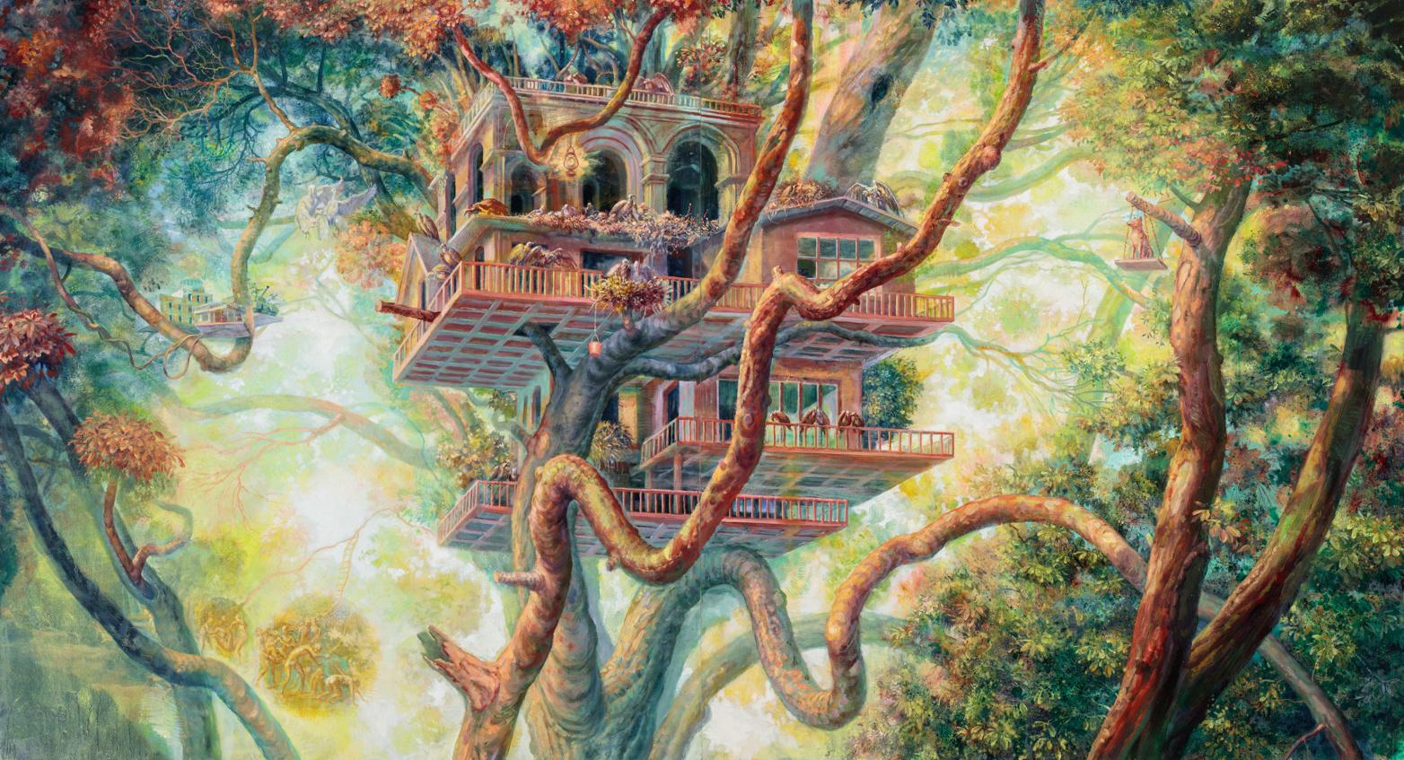 Bright Environmental Paintings Focused on Survival by Artist Julie Heffernan (9 pics)