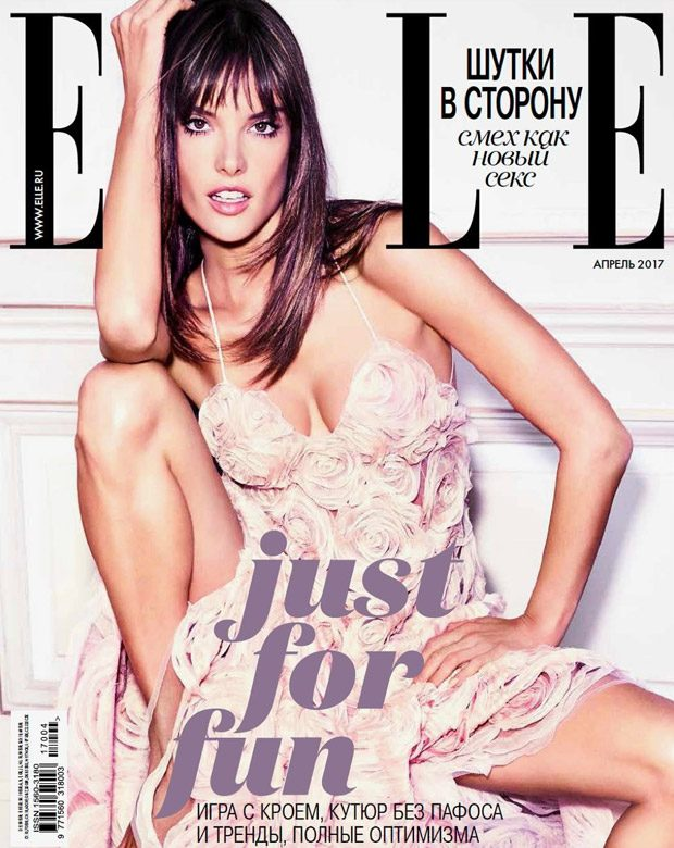 Alessandra Ambrosio Stars in the Cover Story of ELLE Russia April 2017 Issue (10 pics)