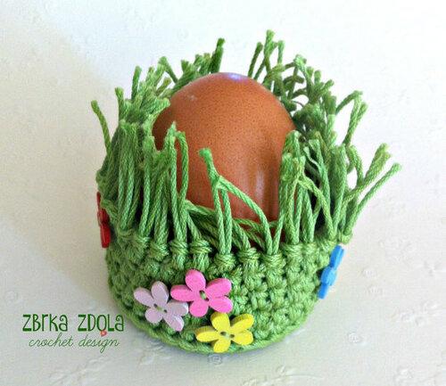 Вязаные аксессуары для пасхальных яиц