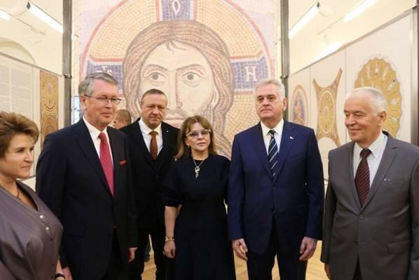 Сербия, храм св.Саввы, мозаики