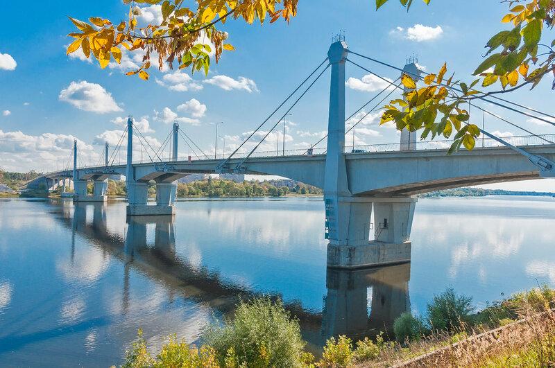 Мост через Волгу. Кимры