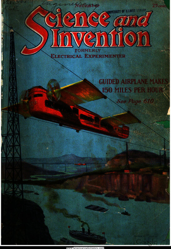 Science & Invention: 1921 November - - Book Cover