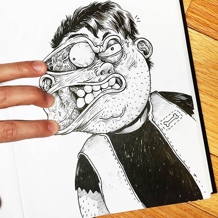 Inkteraction - Quand un illustrateur se bat contre ses propres dessins