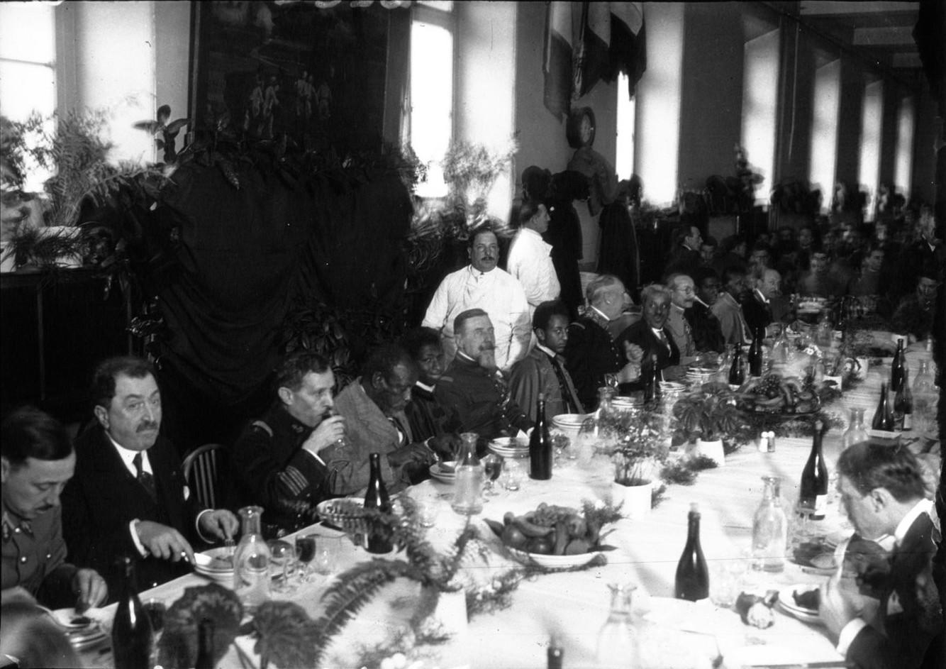 Особая военная школа Сен-Сир. Торжественный обед в честь эфиопского принца