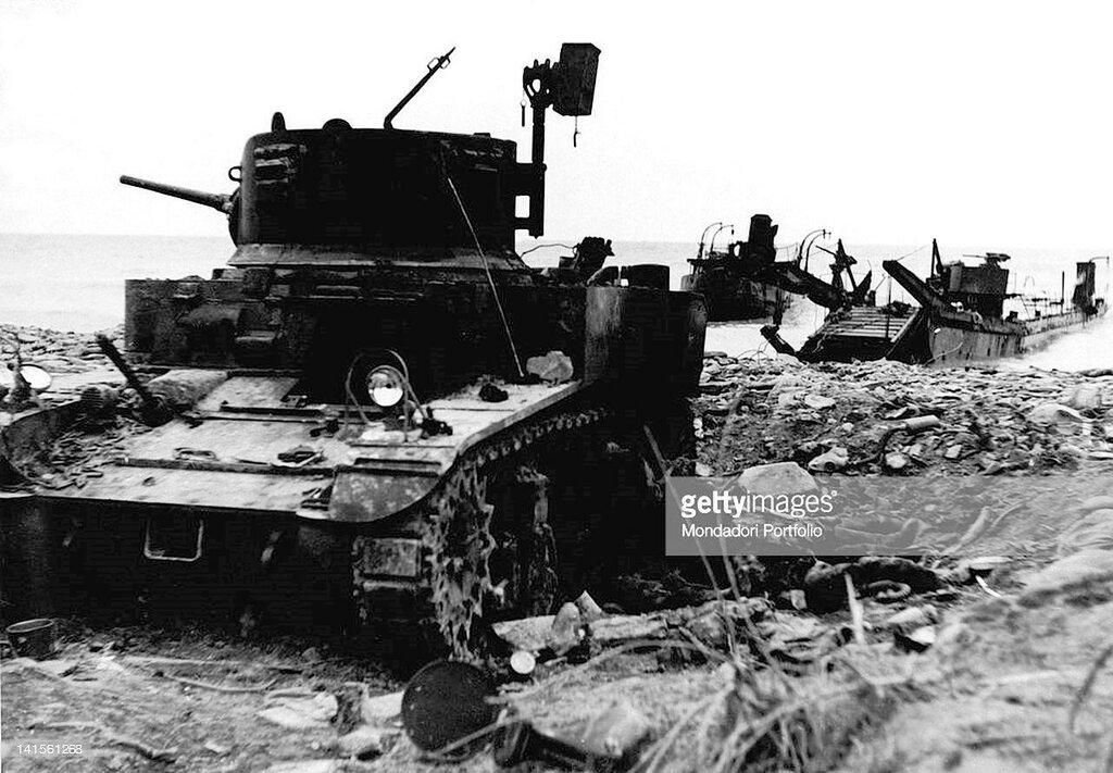 Подбитый танк М3л из состава 563-го отб. Южная Озерейка, 27 апреля 1943 года.