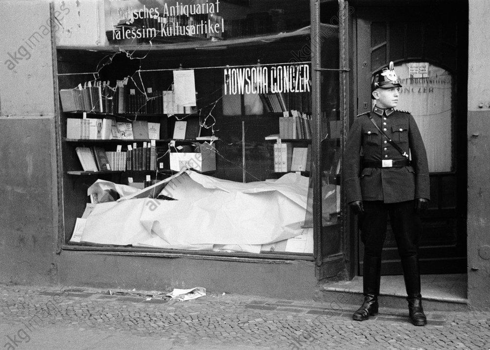 Reichskristallnacht, Berlin, zerstцrtes Geschдft/ Foto 1938 - -