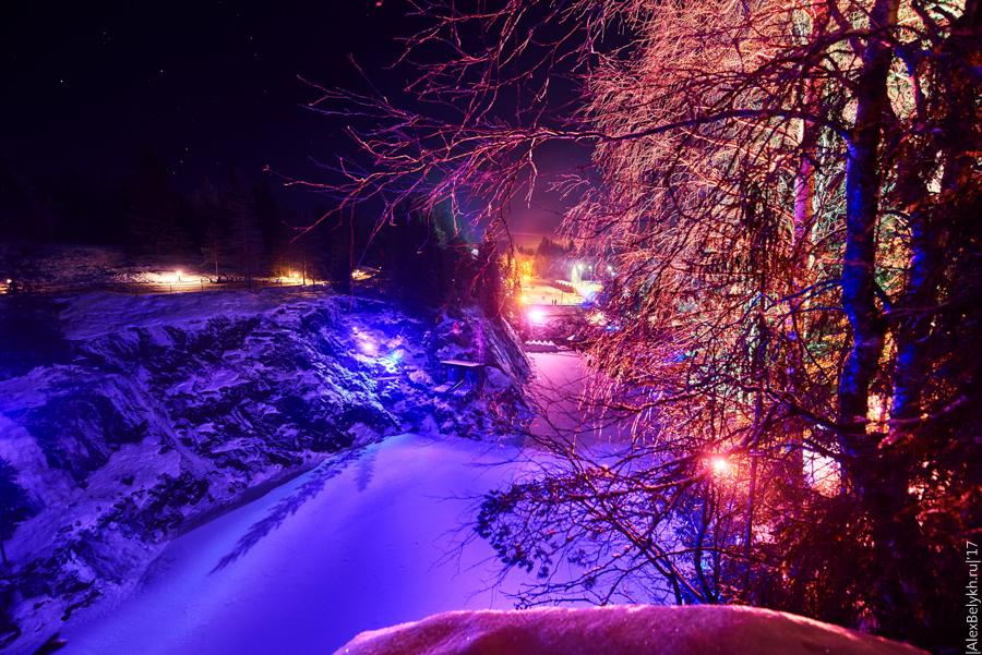 alexbelykh.ru, карелия, карьер Рускеала, мраморный карьер Рускеала, горный парк Рускеала, подсветка Рускеала, Рускеала ночью, ночная Рускеала