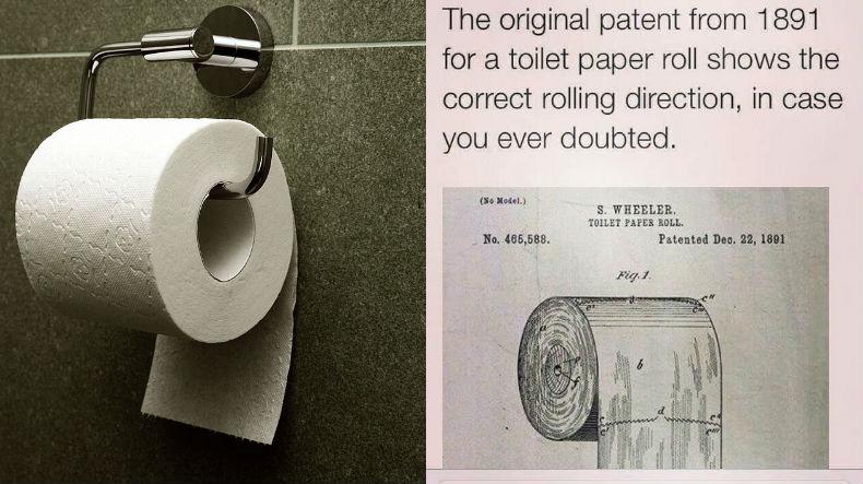 Если вы до сих пор сомневались, какой же стороной вешать туалетную бумагу, то вот вам ответ. Справа