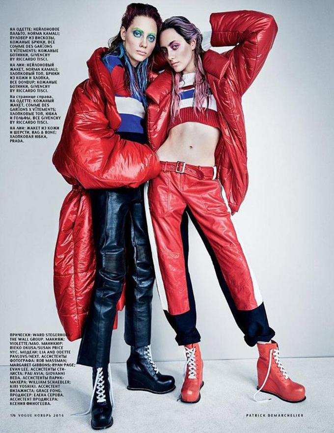 Лия и Одетт Павловы в российском Vogue