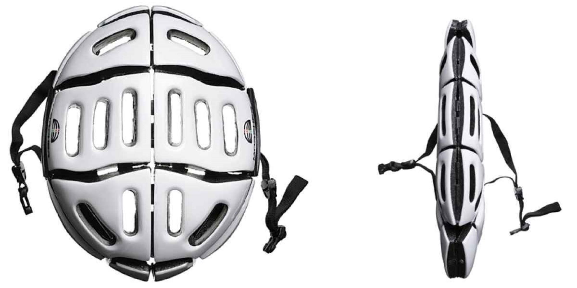 2. Складной шлем для велосипеда от Morpher. Защищает так же хорошо, как обычный, но при этом легко п