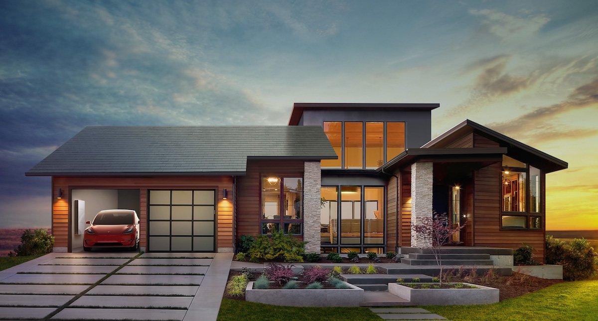 3. Солнечные батареи от Tesla и SolarCity. Теперь это не уродливо торчащие на крыше панели, а сама к
