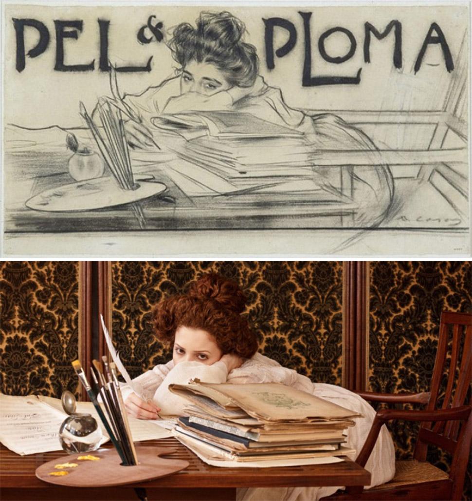 Рисунок из журнала Pel & Ploma, Рамон Касас, 1899 год.