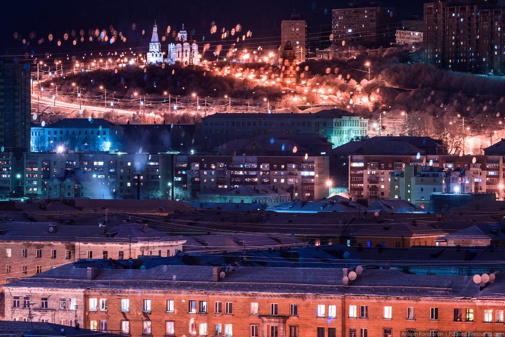 37. Судоремонтный завод. Здесь на вечном приколе стоит первый в мире атомный ледокол «Ленин». О