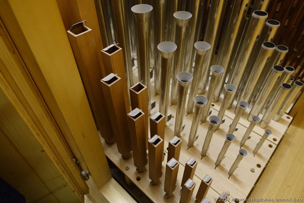 13. Перед каждым большим концертом орган настраивается заново. Процесс настройки занимает неско