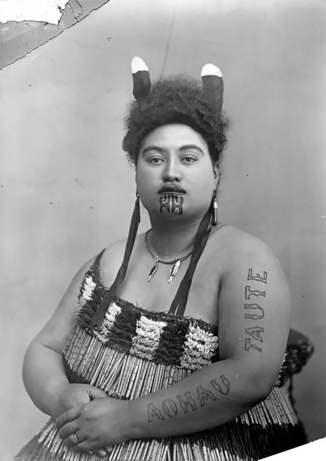 Часто эти татуировки покрывали лицо целиком и были символом социального статуса, ранга, власти и пре