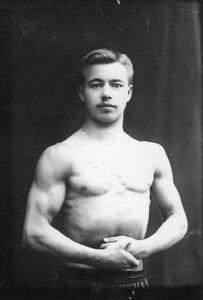 Портрет борца, участника чемпионата, Шубина.