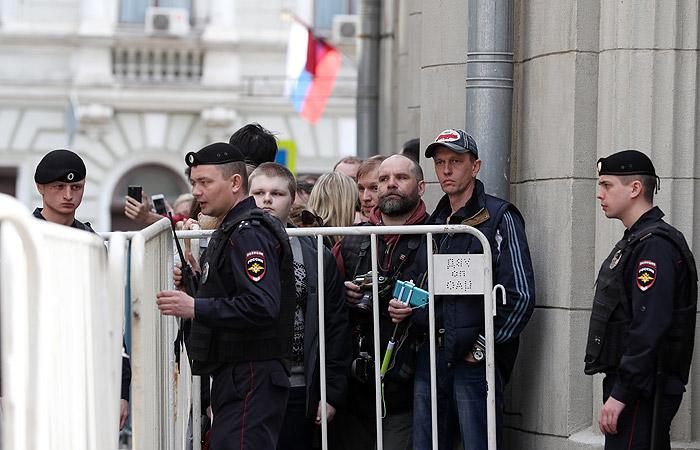 Несанкционированная акция «Открытой России» в столице заинтересовала только корреспондентов