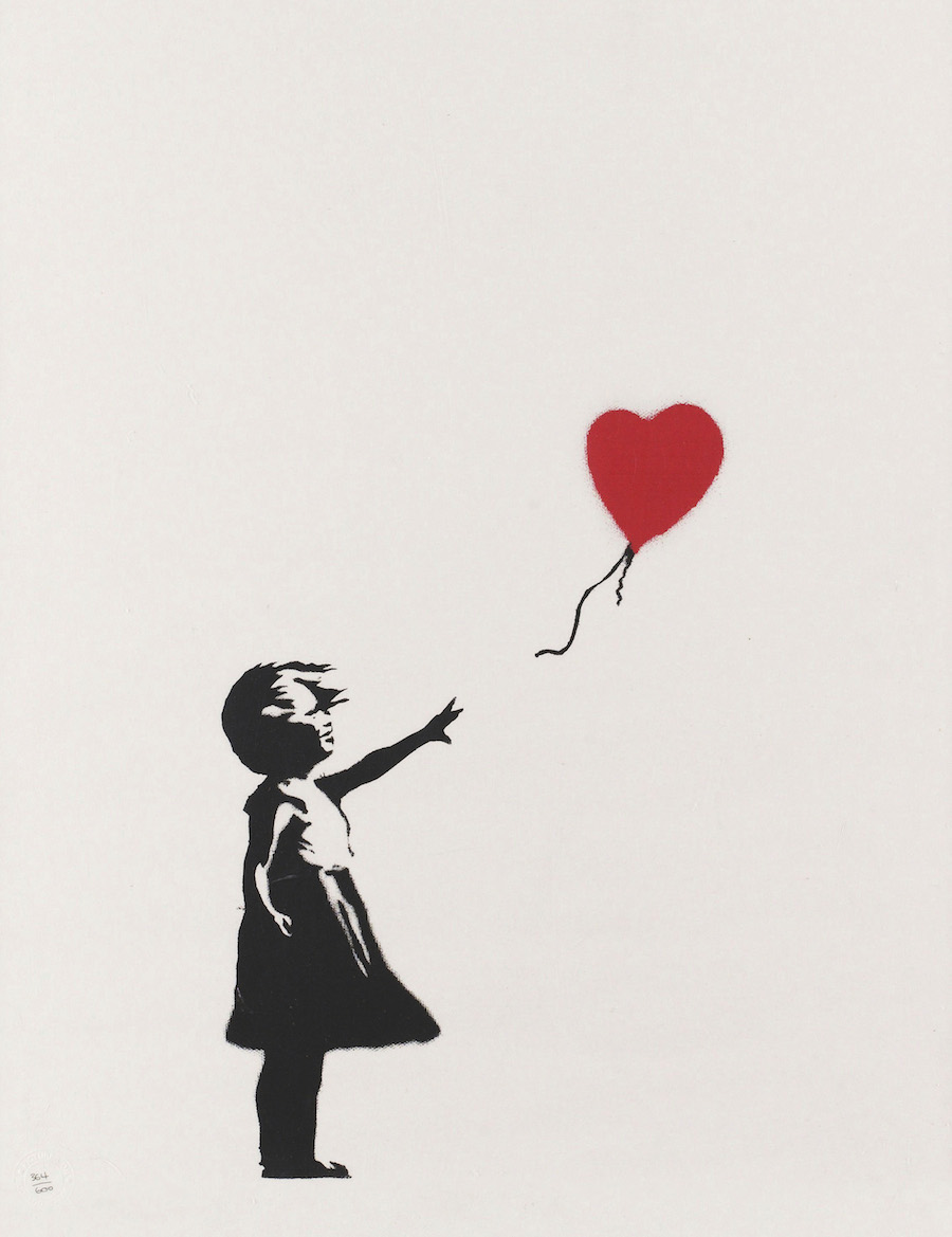 Girl with balloon by Banksy.