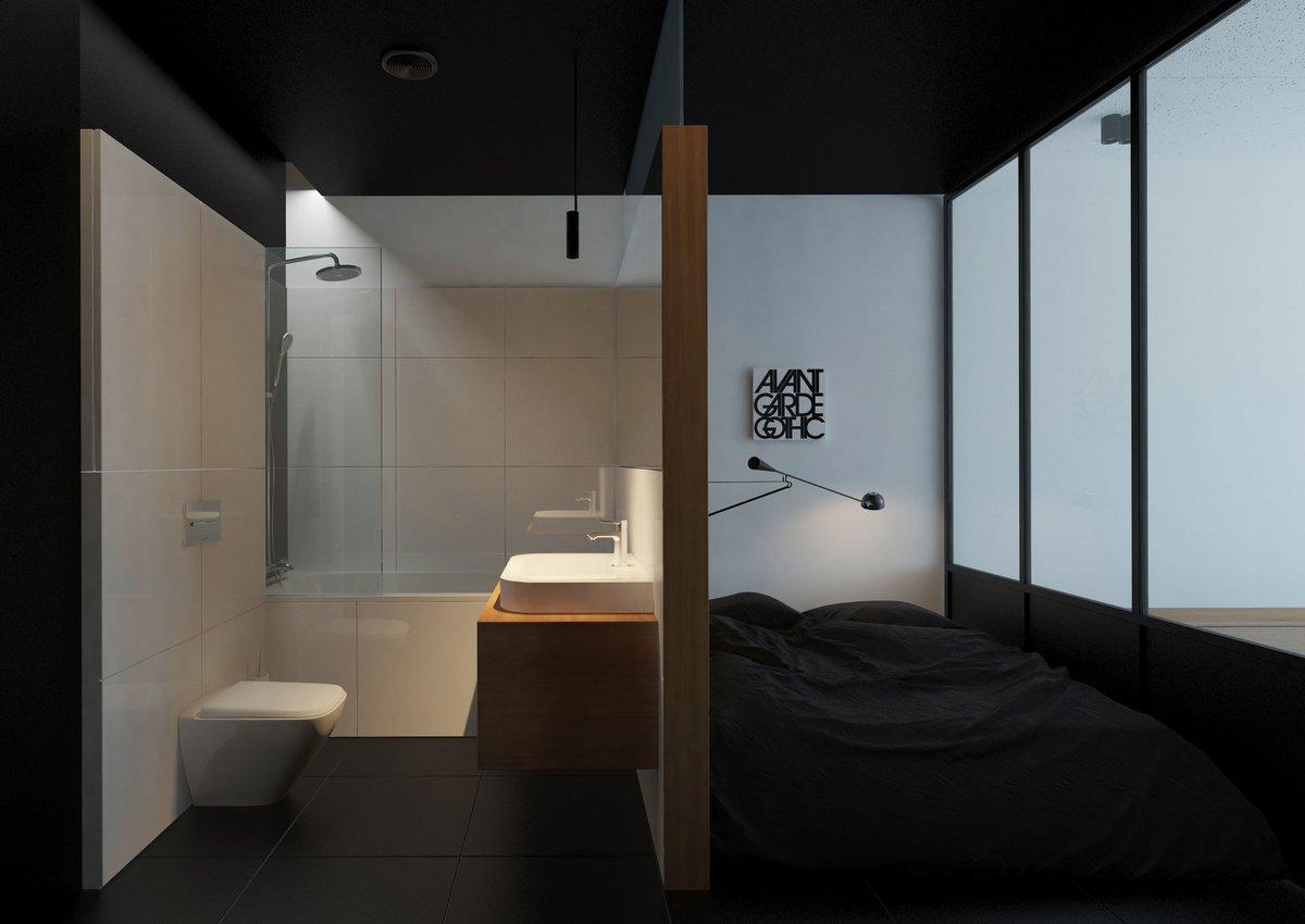 Спальня с туалетом оформление