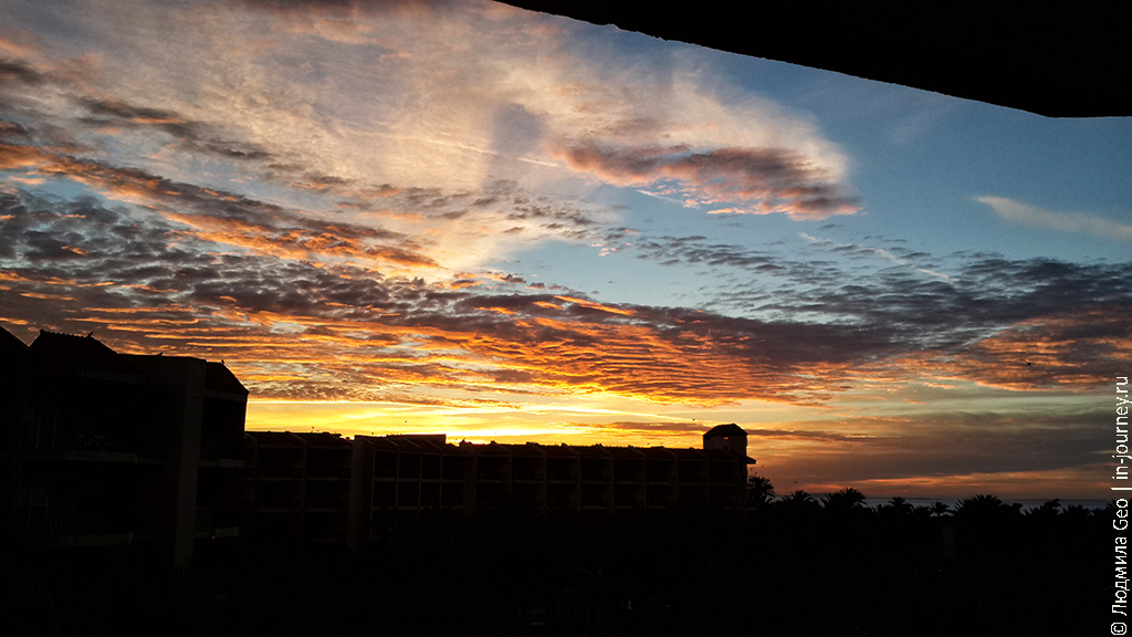 фото заката солнца