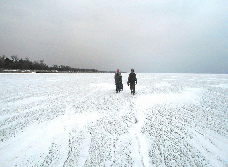 В походе ... Снег на льду ... DSCN1079.JPG
