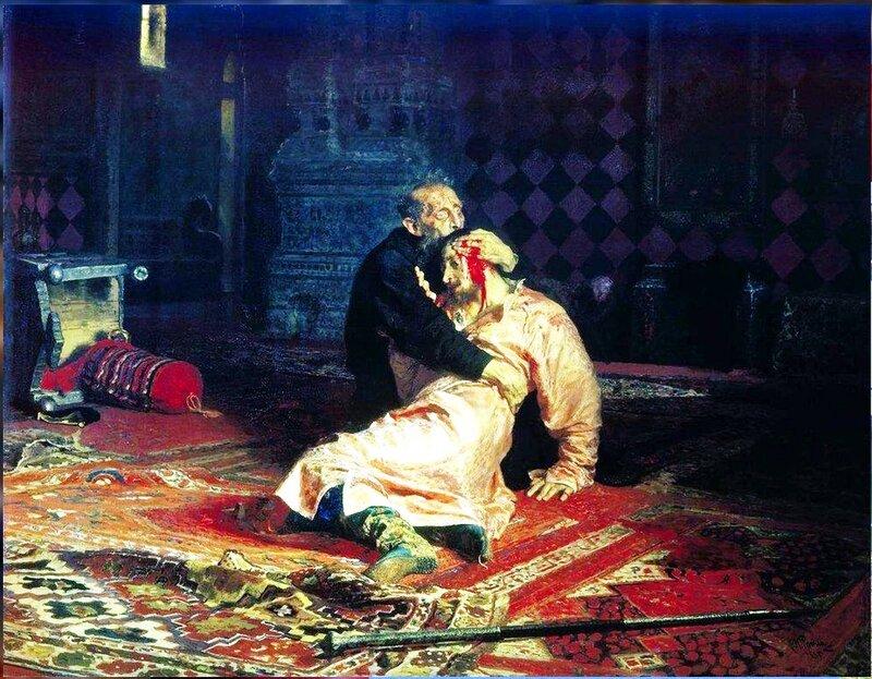 Иван Грозный и сын его Иван 16 ноября 1581 года, 1885. Илья Репин.jpg