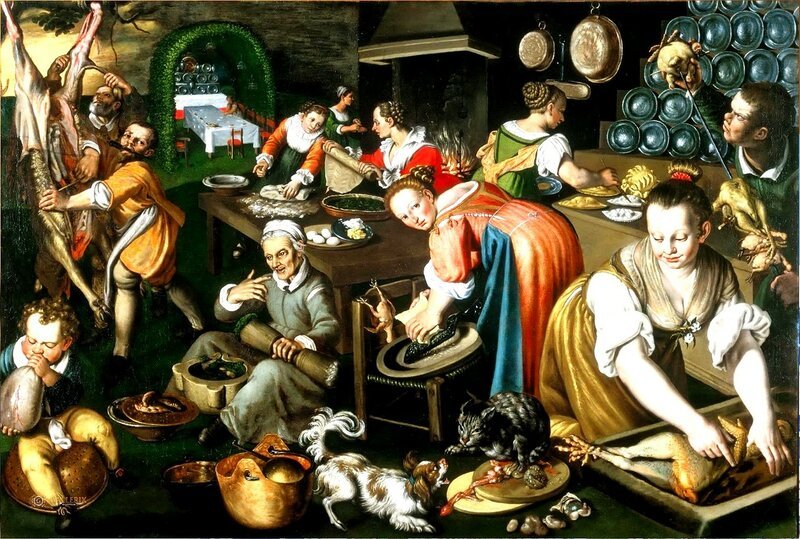 Винченцо Кампи - Vincenzo Campi, (ок.1536 - 1591), итальянский живописец эпохи Возрождения из Кремоны. Кухня, 1585-90. Пинакотека Брера, Милан.jpg