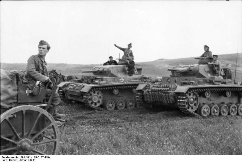 Jugoslawien, Panzer III im Feld