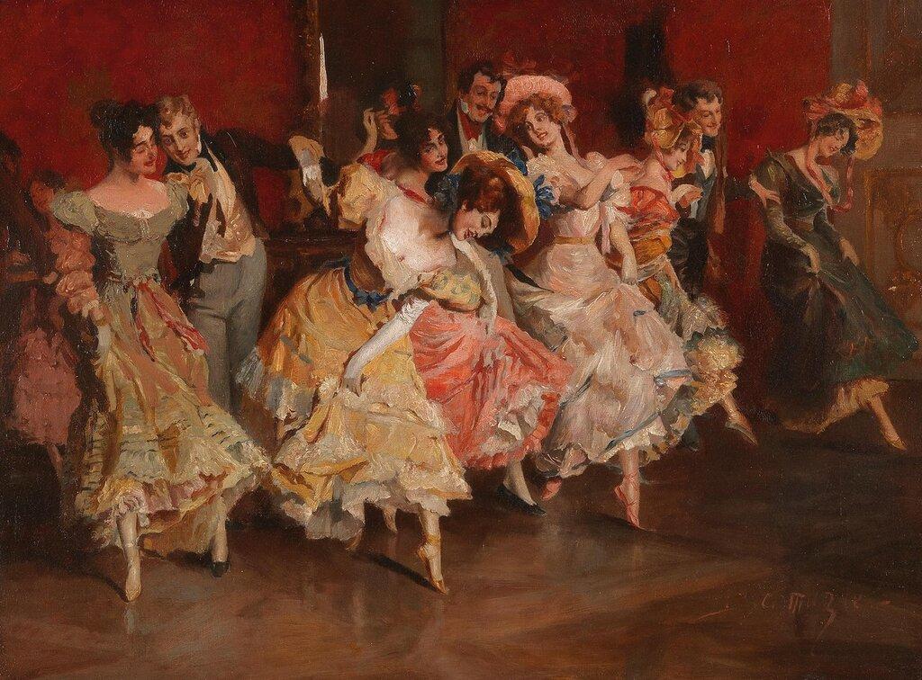 Leopold Schmutzler (Mies, Bohemia 1864-1940 Munich) Enjoying a Dance
