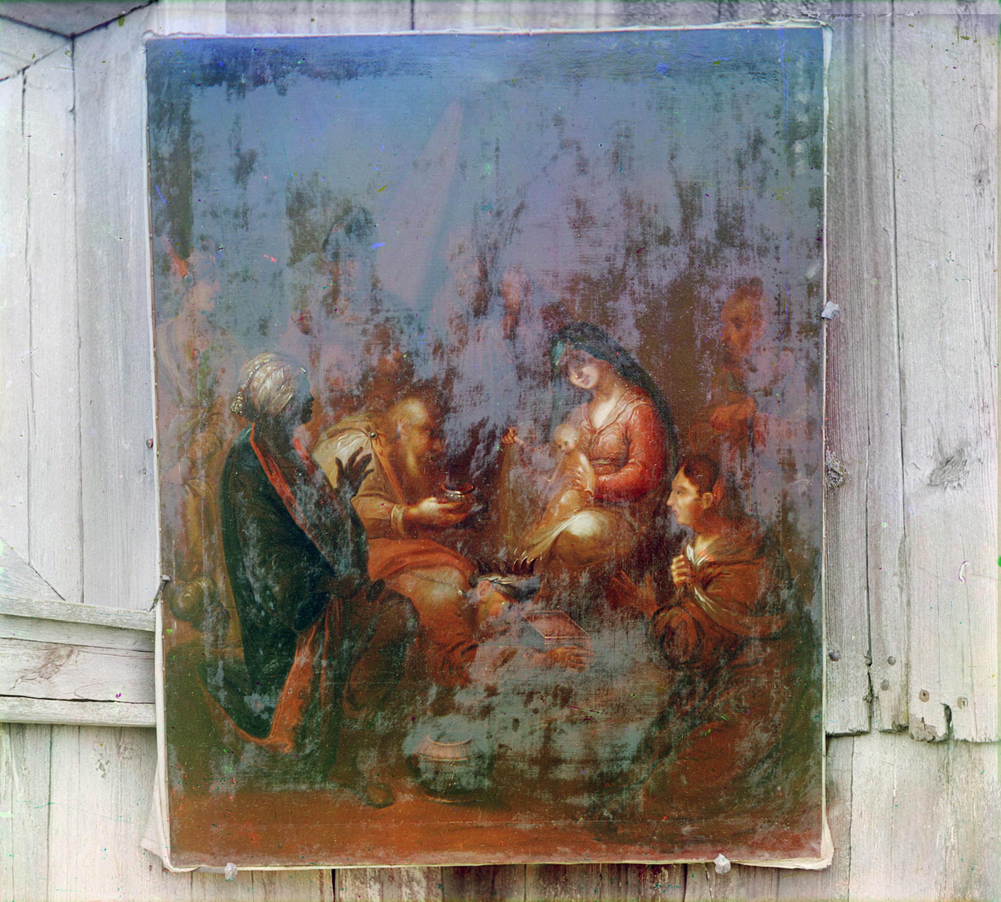Белозерск. Икона в церкви Ильи Пророка