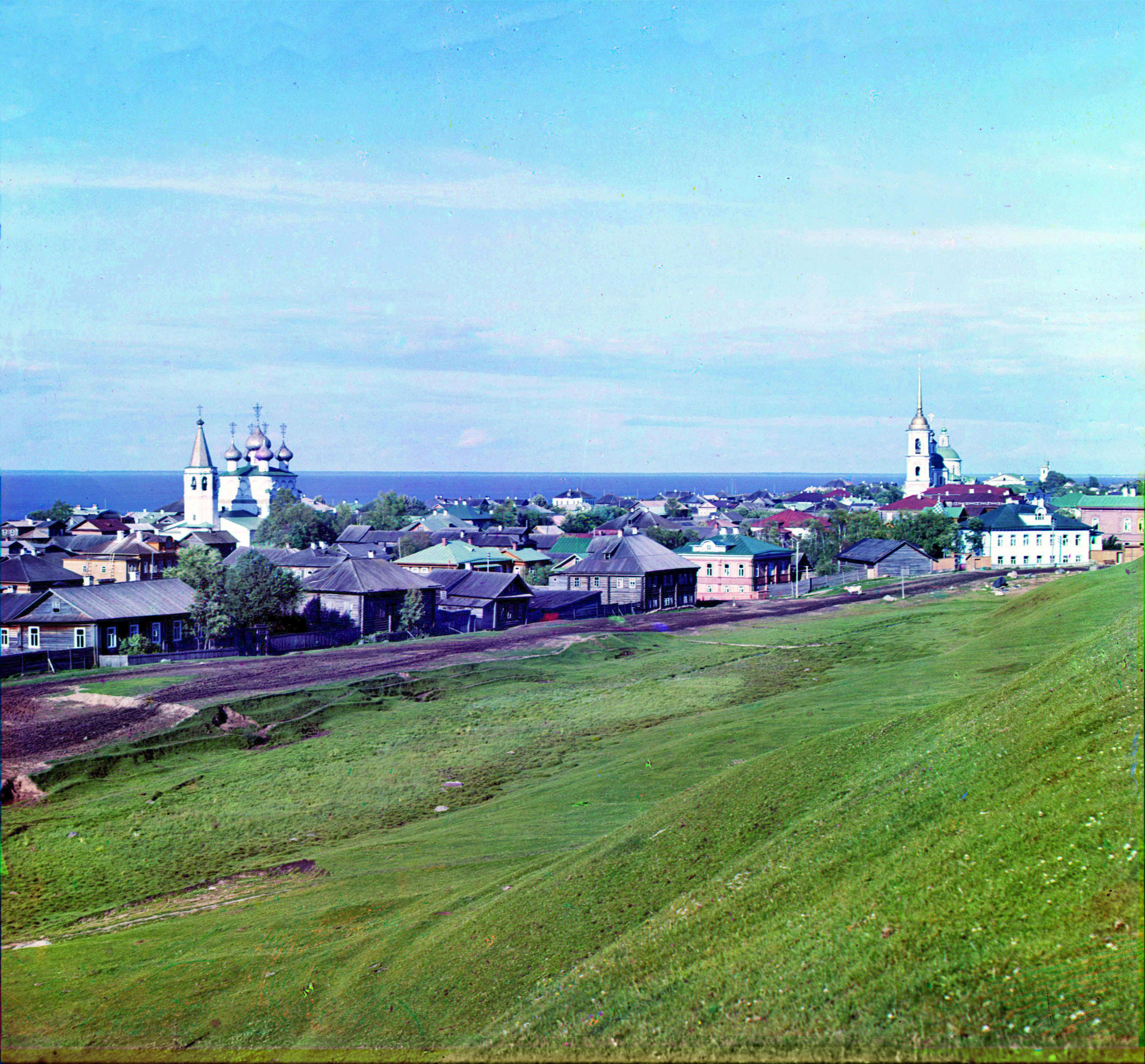 Белозерск. Общий вид города с крепостного вала