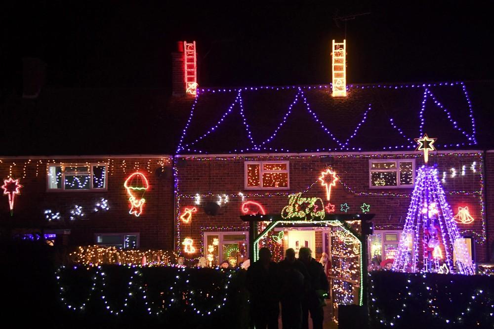 Рождественские украшения в Уэстфилде