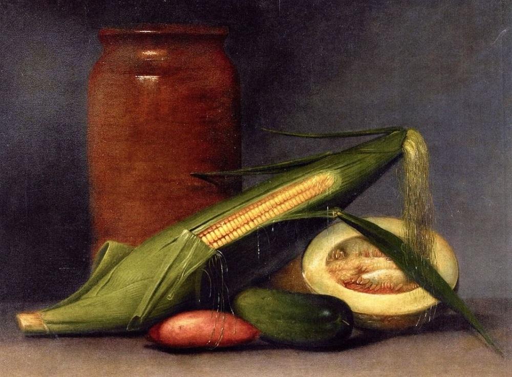 Рафаэль Пил. Кукуруза и дыня. 1813