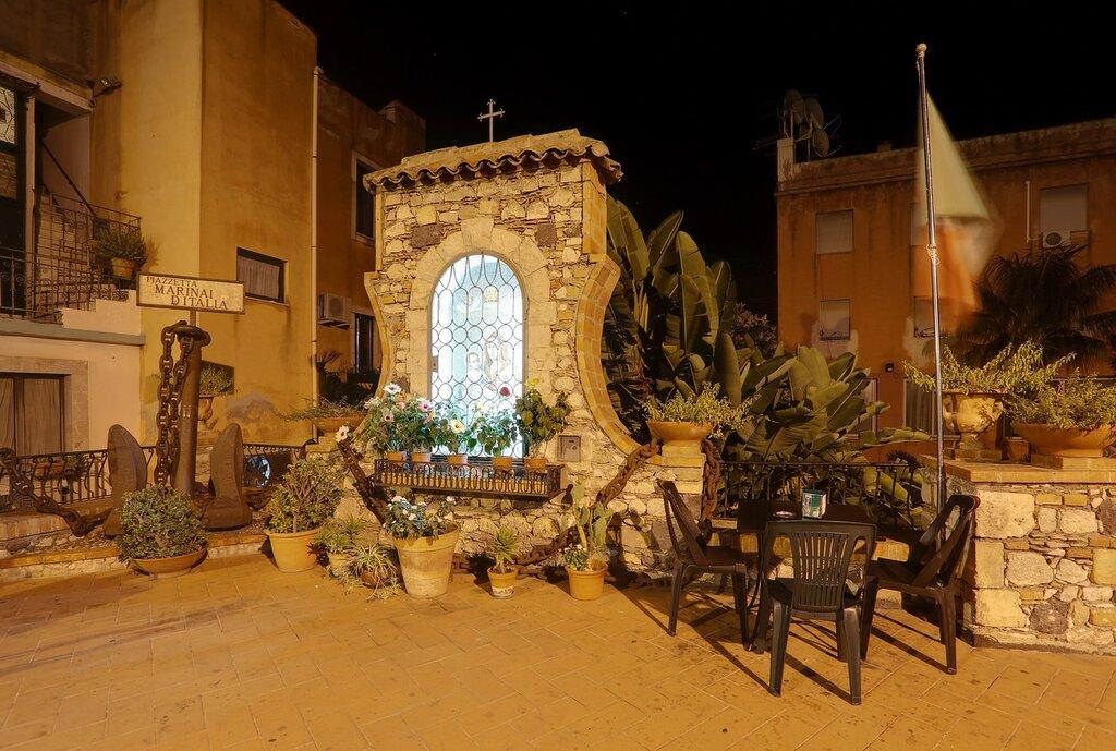 Taormina. Italian seamen's square (Piazzetta Marinai d'italia)
