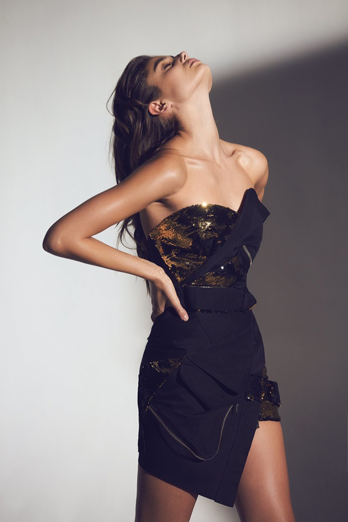 Тейлор Хилл в рекламной кампании Alexandre Vauthier