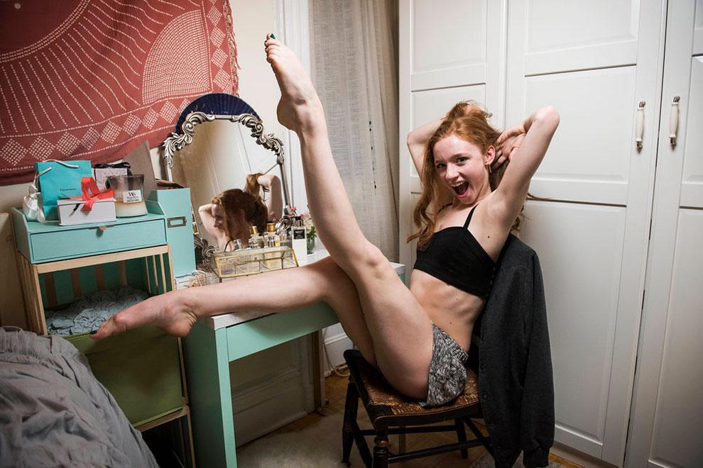 Катерин Херлин, кордебалет Американского театра балета. Уроженка Нью-Йорка, считает свою спальню оче