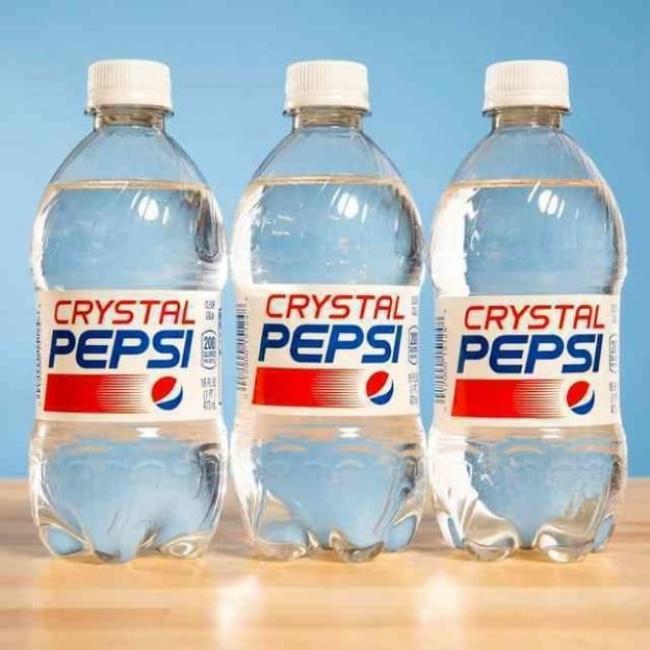 © ebay.com  Crystal Pepsi— это разновидность Pepsi, только без кофеина, выпущенная в2007год