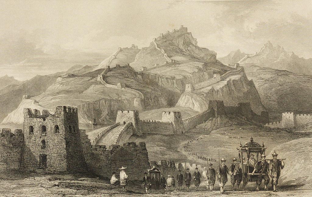 Великая китайская стена и русское посольство в Китай в 17 веке