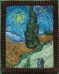 Дорога с кипарисами и звездой